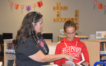 HPA Librarian and Student
