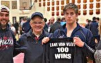 Zane Van Vleet and coach