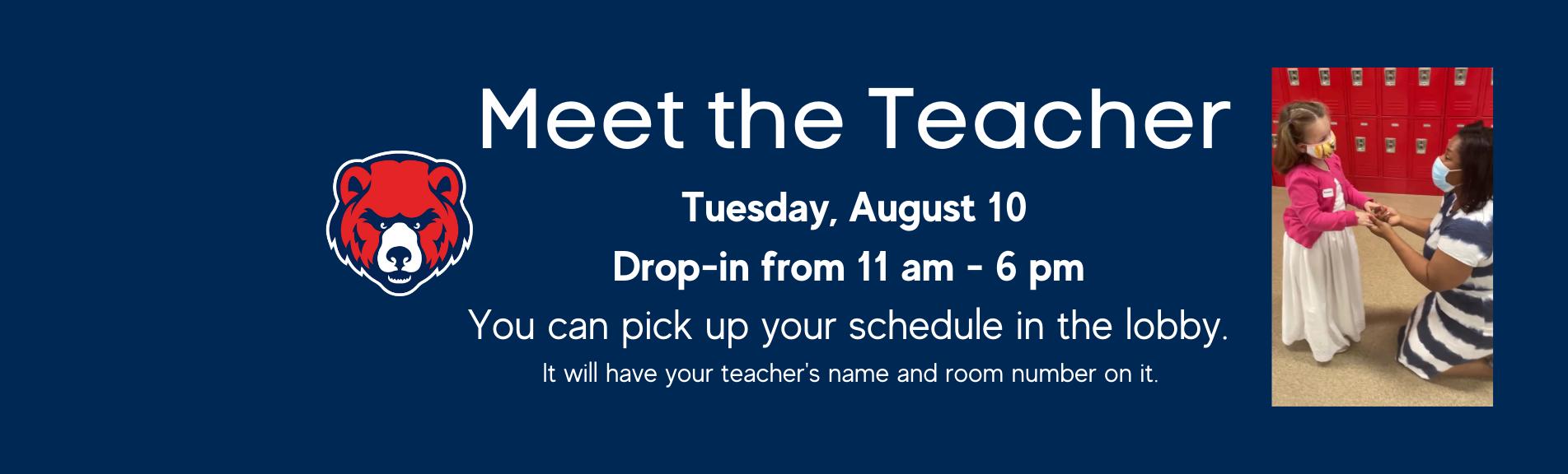 Meet the Teacher at HPA August 10