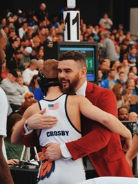 High Point Academy Wrestling Coach and Team Player Crosby